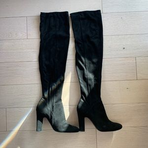 Suede Over the Knees Boots